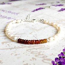 Náramky - Tourmaline & Freshwater Pearls Delicate Bracelet / Jemný náramok turmalín a riečne perly, ag925 /0275 - 9454450_
