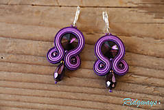 Náušnice - Simple Violet...soutache - 9453179_