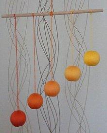 Hračky - Gobbi - montessori mobil (Oranžová) - 9454617_