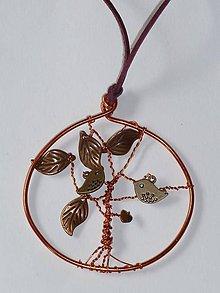 Náhrdelníky - Osobný strom šťastia v medi - 9451892_