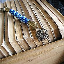Kľúčenky - karabínka s nábojnicami a príveskom Slon - 9451450_