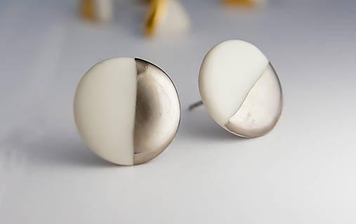 porcelánové náušnice | platina, chirurgická oceľ
