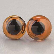 Iný materiál - Sklenené oči na šitie Hnedá - 9453404_