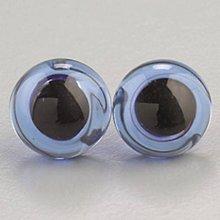 Iný materiál - Sklenené oči na šitie Modrá - 9453440_