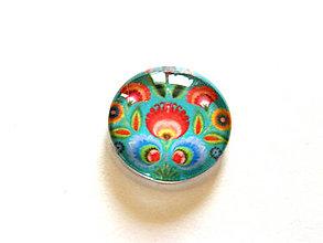 Komponenty - folk kaboson 25mm smaragd rozkvitnuty tulipan - 9454885_
