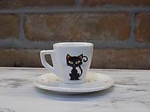 Nádoby - Ristretto šálka - Black cat - 9454496_