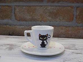 Nádoby - Ristretto šálka - Black cat - 9454495_