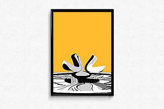 Grafika - Autorská grafika Pijúce holubice - 9454661_