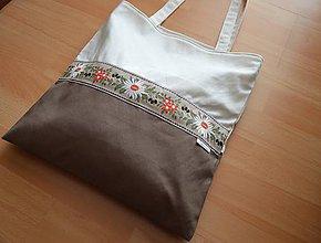 Veľké tašky - Taška folk hnedá - 9453544_