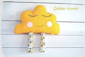 Textil - Spinkajúci mráčik v žltom - 9454192_