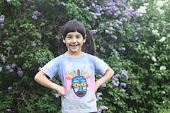 Detské indiánske tričko batikované