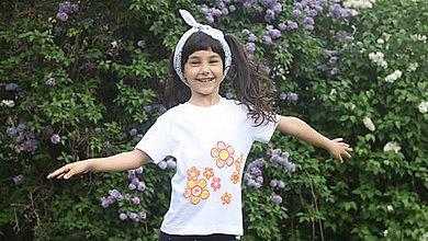 Tričká - Maľované tričko DIEŤA KVETOV - 9454593_