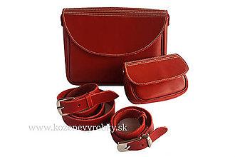 Detské tašky - Kožené kabelky-mama dcéra - 9452379_