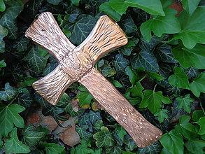 Dekorácie - Nástenný kríž -Krv Kristova- - 9453511_