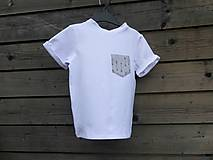 Detské oblečenie - Outlet - tričko biele - 9453614_