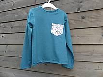 Detské oblečenie - Outlet - tičko petrolejová modrá - 9453770_