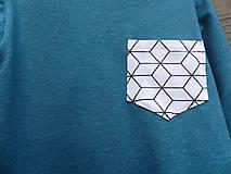 Detské oblečenie - Outlet - tičko petrolejová modrá - 9453772_