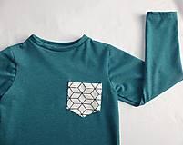 Detské oblečenie - Outlet - tičko petrolejová modrá - 9453774_