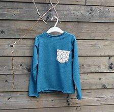 Detské oblečenie - Outlet - tičko petrolejová modrá - 9453769_