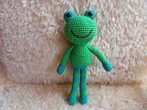 Hračky - Milá háčkovaná žabka :-) - 9452795_