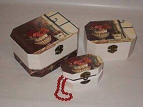 Krabičky - 3 x šperkovnice - 9452974_