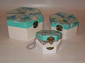 Krabičky - 3 x šperkovnice - 9452992_