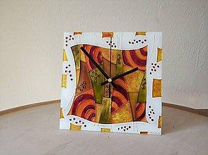 Hodiny - Sklenené nástenné hodiny - 9452881_