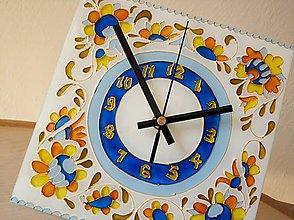 Hodiny - Sklenené nástenné hodiny - 9452884_