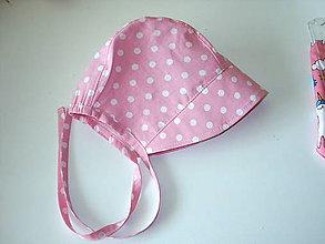 Detské čiapky - ružový čepček - 9453505_