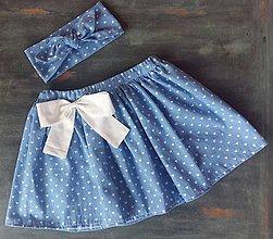 Detské oblečenie - Sukienka s čelenkou Hearts - 9451966_