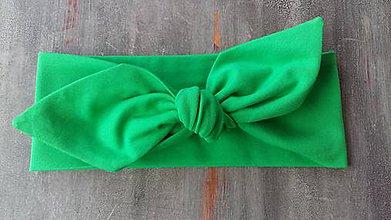 Ozdoby do vlasov - Čelenka Grass Green - 9453255_