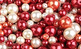 - Voskované perličky 50 g (smotanová-sv.oranžová-červená) - 9452595_