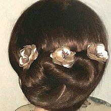 Ozdoby do vlasov - Ružičky do vlasov - 9454551_