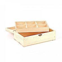 Polotovary - Krabica s vyberateľnými 6 priehradkami - 9453067_