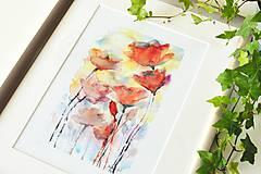 Grafika - Divé maky, akvarel výtlačok (print) - 9453781_