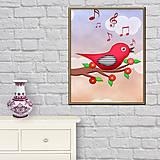 Grafika - (poštovné zdarma) Vtáčik 2 - digitálna grafika  - 9453121_