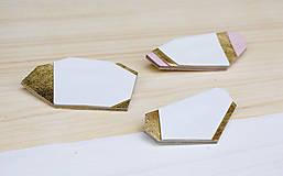 Odznaky/Brošne - Geometrická brošňa - 9457569_