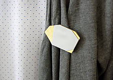 Odznaky/Brošne - Geometrická brošňa - 9457586_