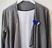 Odznaky/Brošne - Geometrická brošňa - 9457636_