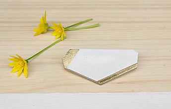 Odznaky/Brošne - Geometrická brošňa - 9457568_