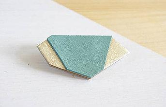 Odznaky/Brošne - Geometrická brošňa - 9457751_