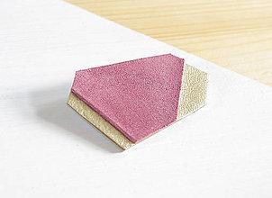 Odznaky/Brošne - Geometrická brošňa - 9457821_