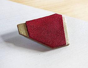 Odznaky/Brošne - Geometrická brošňa - 9457885_