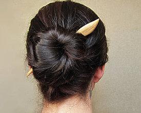 Ozdoby do vlasov - Drevená ihlica do vlasov - 9457248_