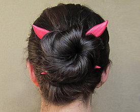 Ozdoby do vlasov - Drevená ihlica do vlasov - 9457614_