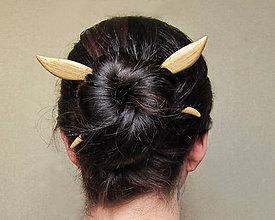 Ozdoby do vlasov - Drevené ihlice do vlasov, set na počkanie, 3-5 dní - 9457891_