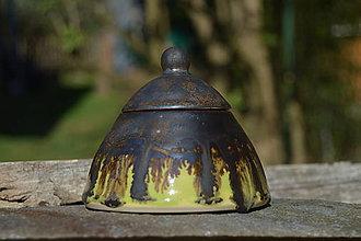 Nádoby - dóza bronzová zelená - 9455555_