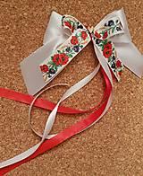 Pierka - folklórna mašľa na kľučku svadobného auta alebo na stoličky lúčne kvietky - 9457293_