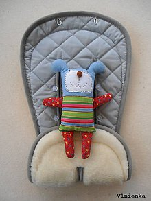 Textil - MERINO podložka do kočíka BUGABOO Bee / Buffalo/ Cameleon/ Donkey/ Joolz 100% WOOL Seat Liner grey sivá - 9456415_