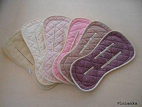 Textil - MERINO podložka do kočíka BUGABOO Bee / Buffalo/ Cameleon/ Donkey/ Joolz 100% WOOL Seat Liner PASTELOVÉ - 9456500_